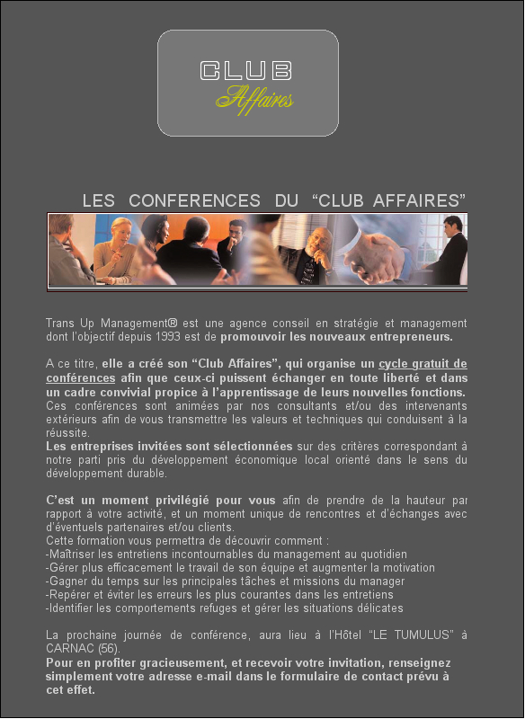 Les conferences du Club Affaires